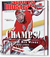 Detroit Red Wings Goalie Dominik Hasek, 2002 Nhl Stanley Sports Illustrated Cover Canvas Print