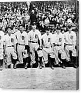 Detroit Tigers 1935 Pitching Staff At Canvas Print