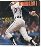Detroit Tigers Alan Trammell, 1984 World Series Sports Illustrated Cover Canvas Print