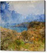 Digital Watercolor Painting Of Lizard Point And Lighthouse, The  Canvas Print