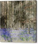 Digital Watercolor Painting Of Stunning Landscape Of Bluebell Fo Canvas Print
