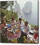 Dining Al Fresco On Capri Canvas Print