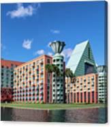 Disney Dolphin Hotel Canvas Print