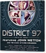 District 97/John Wetton US Tour Canvas Print