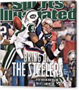 Divisional Playoffs - New York Jets V New England Patriots Sports Illustrated Cover Canvas Print