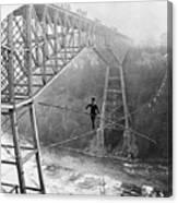 Dixon Crossing Niagara On A Tightrope Canvas Print