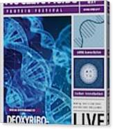 Dna Poster Canvas Print