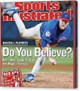 Do You Believe Kerry Wood Leads The Cubs Into Magical Sports Illustrated Cover Canvas Print