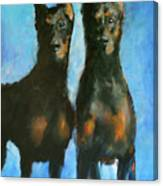 Doberman Family Canvas Print