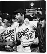 Dodgers Congratulating Sandy Koufax Canvas Print