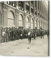 Dodgers Fans In Line At Ebbets Field Canvas Print