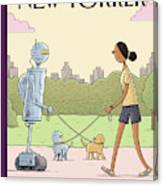 Dog Walking 2.0 Canvas Print
