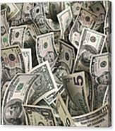 Dollars Canvas Print