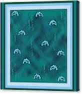 Dolphins Design Canvas Print