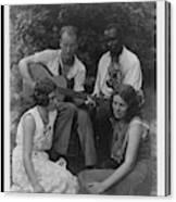 Doris Ulmann   1882-1934  Four Musicians Including A Man Playing A Guitar, A Man Playing A Violin Canvas Print