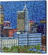 Downtown Raleigh - City At Night Canvas Print