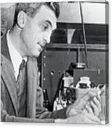 Dr. Felix Bloch In A Laboratory Canvas Print