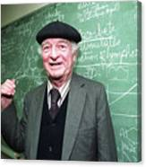 Dr. Linus Pauling At The Chalk Board Canvas Print