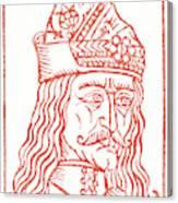Dracula Or Vlad Tepes, 1491 Woodcut Canvas Print