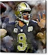 Drew Brees Canvas Print