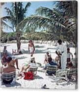 Drinks On The Beach Canvas Print