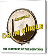 Drum Circle Logo Canvas Print