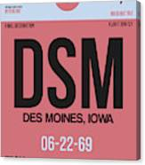 Dsm Des Moines Luggage Tag I Canvas Print