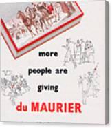 Du Maurier Cigarettes Canvas Print