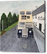 Dublin Bus Painting Canvas Print