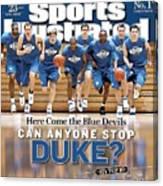 Duke University Basketball Team Sports Illustrated Cover Canvas Print