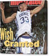 Duke University Grant Hill, 1991 Ncaa National Championship Sports Illustrated Cover Canvas Print