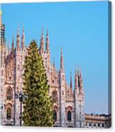 Duomo Di Milano At Christmas Canvas Print