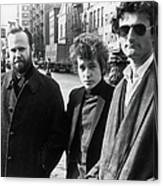 Dylan & Others In Sheridan Square Canvas Print