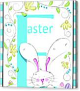E For Easter Canvas Print