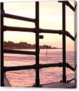 Early Morning Railings Canvas Print
