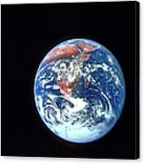 Earth From Outer Space Canvas Print
