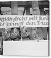 East German Ministers Applauding Canvas Print