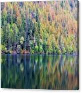 Echo Lake Autumn Shore Canvas Print