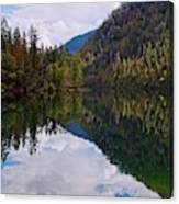 Echo Lake Early Autumn Reflection Canvas Print