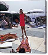 Eden Roc Beach Club Canvas Print
