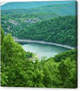 Edersee Lake Surrounded With Forest Canvas Print