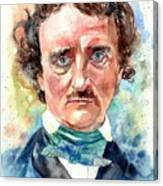 Edgar Allan Poe Portrait Canvas Print