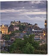 Edinburgh At Dusk Canvas Print