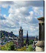 Edinburgh Castle From Calton Hill Canvas Print