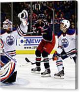 Edmonton Oilers V Columbus Blue Jackets Canvas Print
