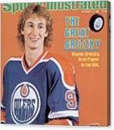 Edmonton Oilers Wayne Gretzky Sports Illustrated Cover Canvas Print
