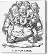 Election Lunes, 1865. Artist Charles Canvas Print