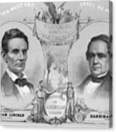 Election Poster With Abraham Lincoln Canvas Print