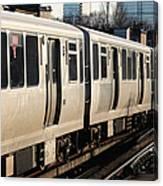 Elevated Train Descends Into Subway Canvas Print