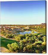 Elevated View Of Golf Course, Sun City Canvas Print
